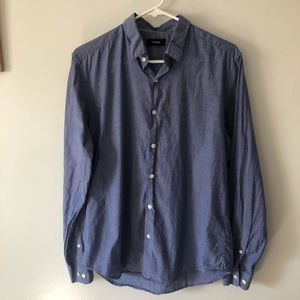 Theory medium chambray style button down blue